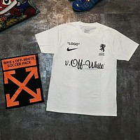 NIKE x OFF-WHITE Joint World Cup Round Neck Short Sleeve T-Shirt F-AG-CLWM white