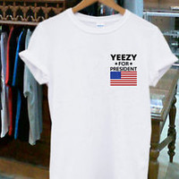 Kanye West Yeezy For President 2020 Shirt Unisex T-shirt Tee Size S-XL #1