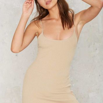 Bases Covered Ribbed Mini Dress