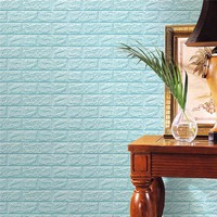 PE Foam 3D Wall Stickers Safty Home Decor DIY Wallpaper Brick Living Room Kids Bedroom Sticker