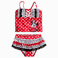 Minnie Mouse Deluxe Swimsuit for Girls - 2-Piece