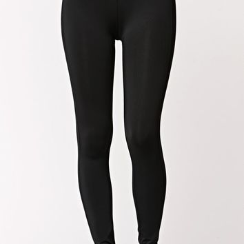 LA Hearts Basic Active Leggings - Womens Pants - Black