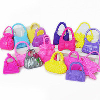 10 Pcs Mix Color Mix Styles Doll Bag Hangbags Accessories for Barbie Doll