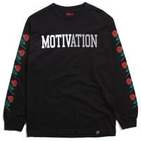 Rose Sleeves Longsleeve T-Shirt Black