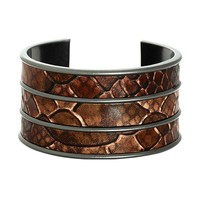House of Harlow 1960 Jewelry Serene Serpentine Triple Cuff - Gunmetal