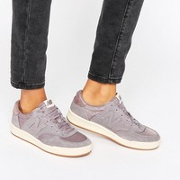 New Balance 300 Court Trainers In Grey Suede With Metallic Trim at asos.com