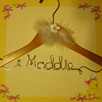 Personalized New Baby/Small Child Custom Wire Hanger - Great shower gift
