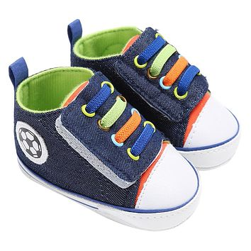 Infant Toddler Kids Canvas Sneakers Baby Boys Girls Soft Sole Crib Shoes Newborn First Walker