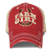 Farm Boy & Farm Girl Women's Farm Girl Horseshoe 2 Mesh Cap
