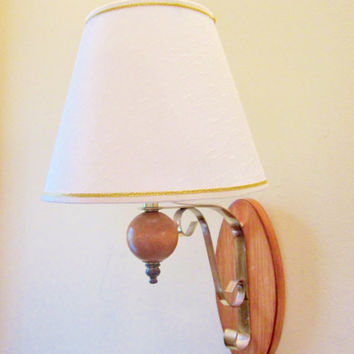 Vintage Electric WALL SCONCE Lamp Wood Lighting Anywhere
