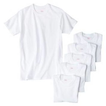 Hanes® Men's 6Pk Crew Neck T-Shirts With Fresh IQ - White