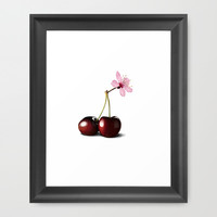 Cherry Blossom, In Memory of Mackenzie Framed Art Print by Rob Snow