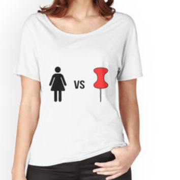 'Corinne Vs Pin - Threadbanger' T-Shirt by lewbarberdesign