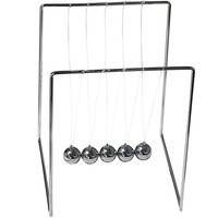 Evelots Newton's Cradle, Balance Balls, Desk Accessory, Silver Toned