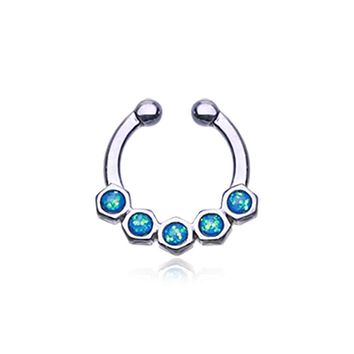 Colorline Opal Hexa Gemina WildKlass Fake Septum Clip-On Ring