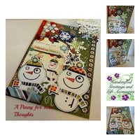Friends and Family Handmade Holiday Card . Ready to Ship