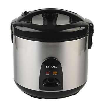 Tayama Stainless Steel Rice Cooker & Food Steamer - 10 Cup (TRSC-10)