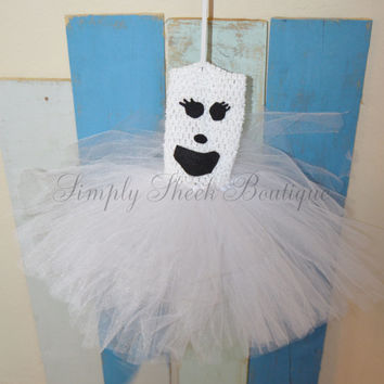 Ghostly Ghoul Dress/ Halloween Dress/ Tutu Dress/ Ghost