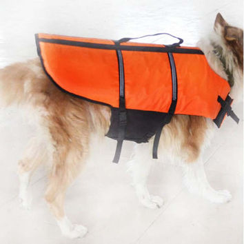 Large Dog Surfing Safety Vest Life Preservers Jacket Big Dog Swimming Clothes 3 Colors