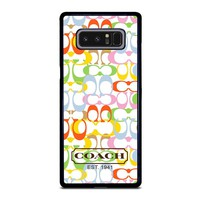 COACH NEW YORK COLORFUL Samsung Galaxy Note 8 Case Cover