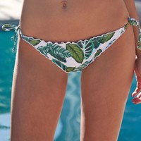 LA Hearts Ruffle Cinch Bikini Bottom - Womens Swimwear - Green