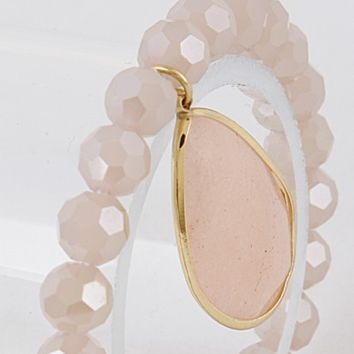 Passion Pink Quartz Stretch Bracelet
