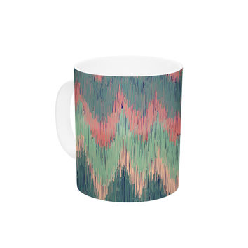 "Nika Martinez ""Ikat Chevron"" Multicolor Ceramic Coffee Mug"