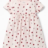 Empire-Waist Crew-Neck Dress for Baby |old-navy