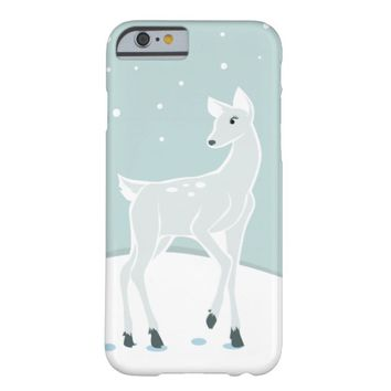 Snowy Deer Barely There iPhone 6 Case