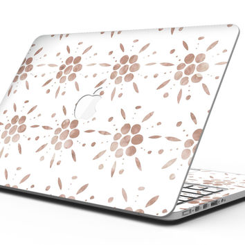 Brown Watercolor Flowers V1 - MacBook Pro with Retina Display Full-Coverage Skin Kit