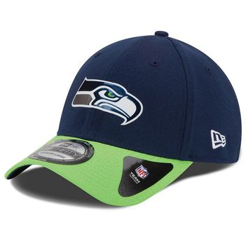 New Era Seattle Seahawks 2015 Draft Collection 39THIRTY Stretch-Fit Cap - Adult, Size: M/L (Blue)