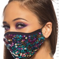 Dust Bunny Mask in Party Monster Sequin