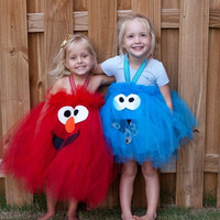 Elmo Inspired Tutu Dress Halloween Costume for birthday or dress up playtime or parades halloween Made to order