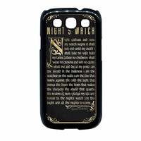 Game Of Thrones Nights Watch Samsung Galaxy S3 Case