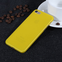 Yellow 0.3 mm Ultra Thin Slim Plastic Soft Transparent Clear Back Cover Phone Case for Apple iPhone 7 7 Plus