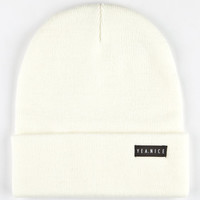 Yea.Nice The Folded Beanie Cream One Size For Men 25287315101