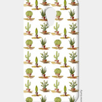 Cute Cactus Plants Pattern Moto G2 Cases | Artist : Seema Hooda