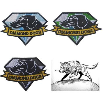 Metal Gear Solid V 5 The Phantom Pain Diamond Dogs Emblem Patch Special Force Group Tactical military morale badge Patches