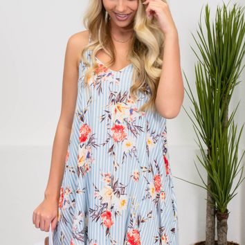Shoreline Floral Striped Dress