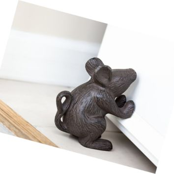 Cast Iron Mouse Door Stop - Decorative Rustic Door Stop - Stop your bedroom, bat