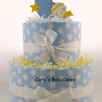 Boy diaper cake | Star diaper cake | Baby diaper cake | Baby shower gift | Baby sprinkle decoration | Mom to be gift | New baby gift