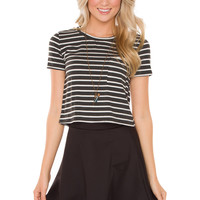 Stormy Stripe Crop Top
