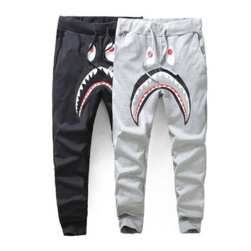 New Mem Women Hip-hop Popular Logo Loose Casual Pants Men's Casual Sweatpants Pants Shark Printing Pants