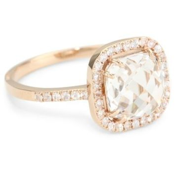 Kalan by Suzanne Kalan White Topaz Cushion Cut Ring - designer shoes, handbags, jewelry, watches, and fashion accessories | endless.com