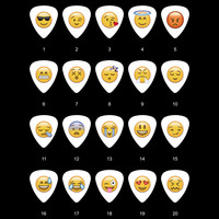 Emoji Guitar Pick (20pcs, whatsapp, iphone, Samsung, HTC)