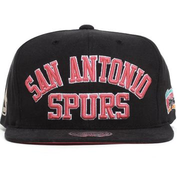 San Antonio Spurs NBA Wordmark Snapback Hat Black