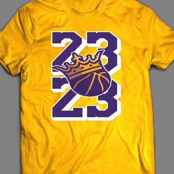 THE KING OF BASKETBALL 23 LEBRON JAMES ART T-SHIRT