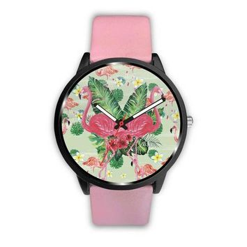 Lovely Double Flamingo Customized Design Watch