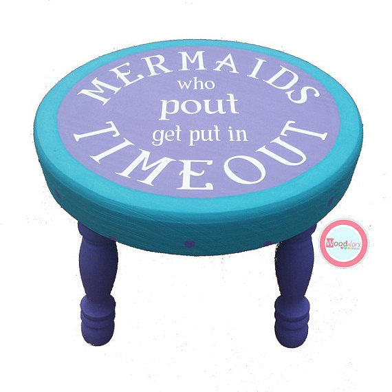 Hand Painted Stool Mermaid Stool From Wood Worx Designs