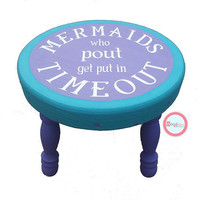 Hand painted stool, Mermaid Stool, Personalized Step Stool, kids step stool, personalized stool, kids furniture, childrens step stool